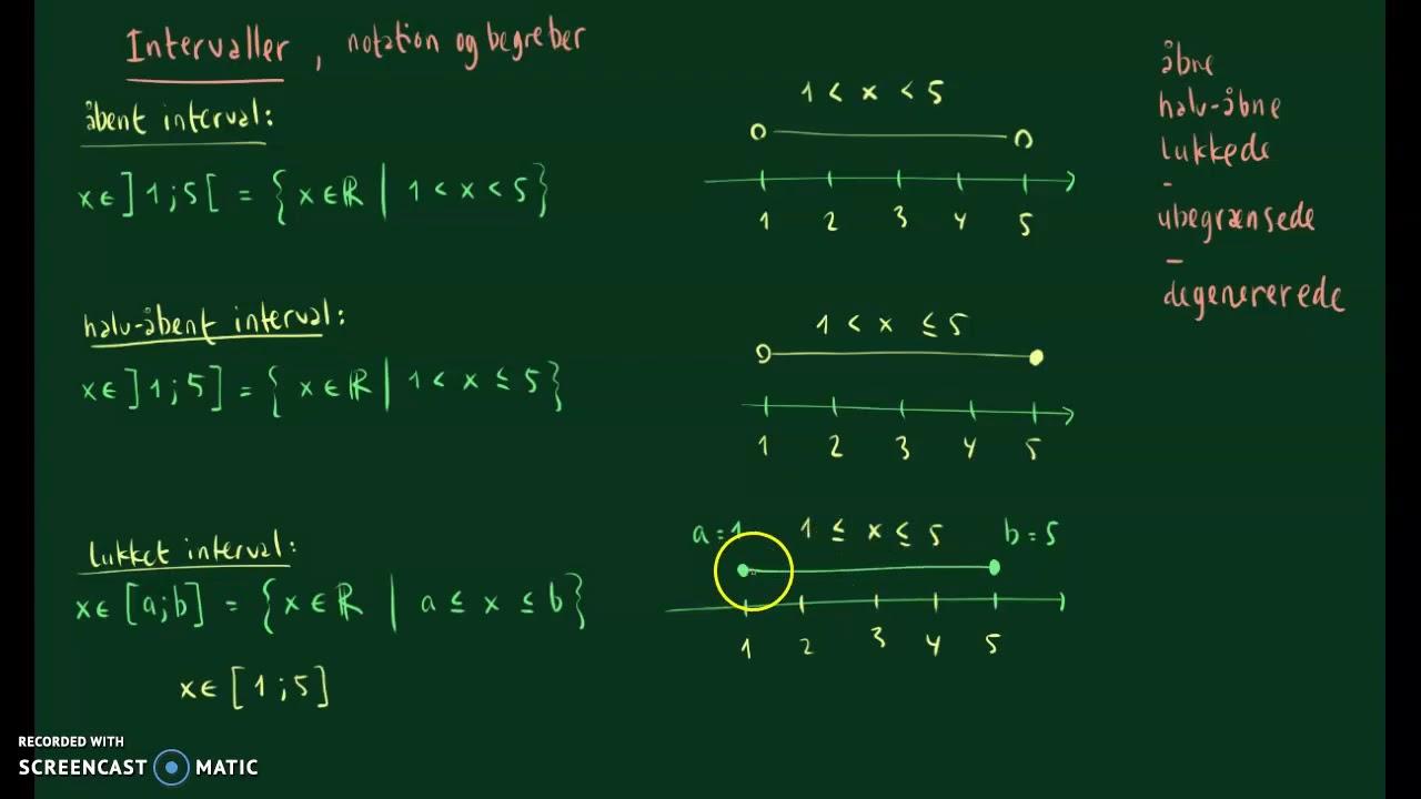 Intervaller, notation og begreber