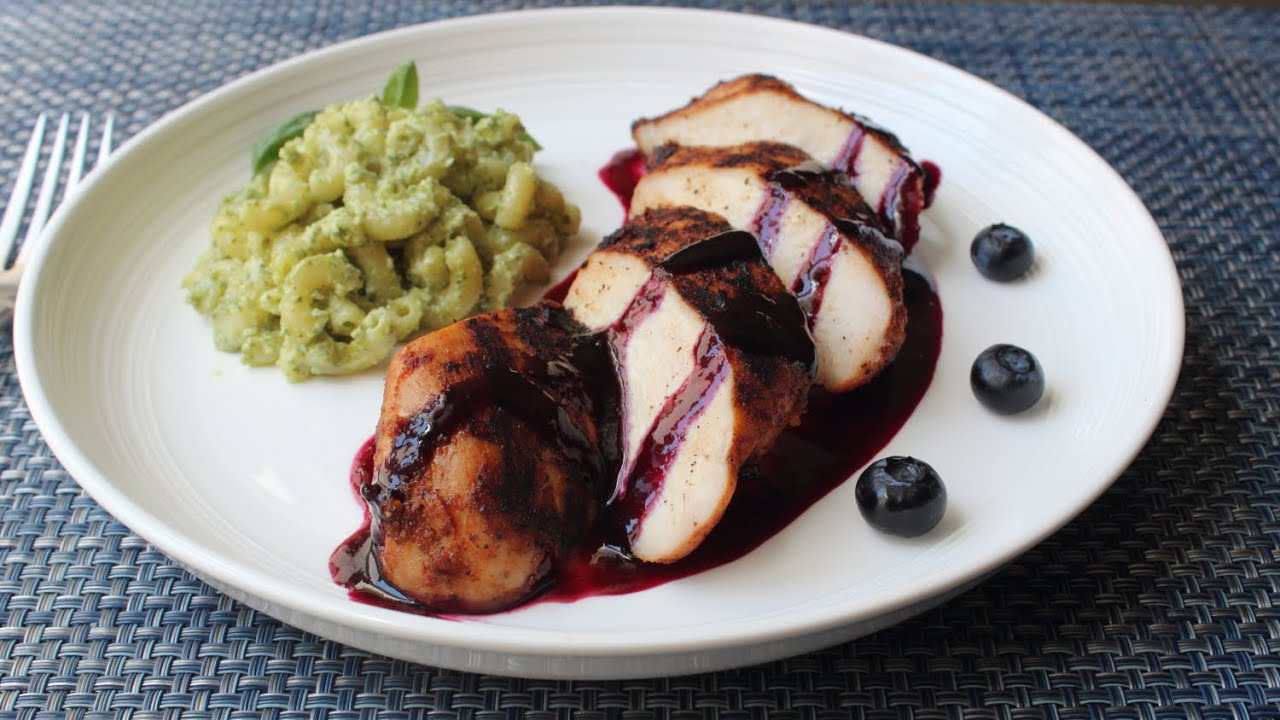 ... Spicy Chili-Rubbed Chicken with Sweet Sour Blueberry Sauce - YouTube