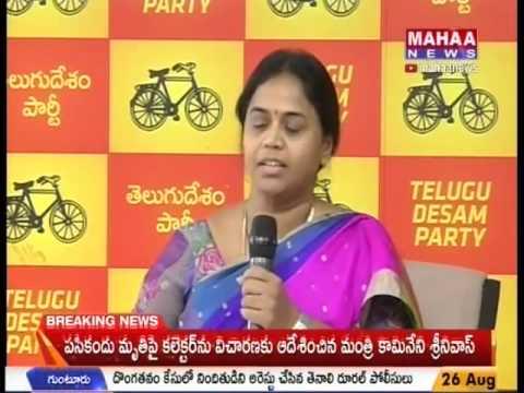 TDP Leader Anuradha Attacks YS Jagan - Mahaa Telugu News