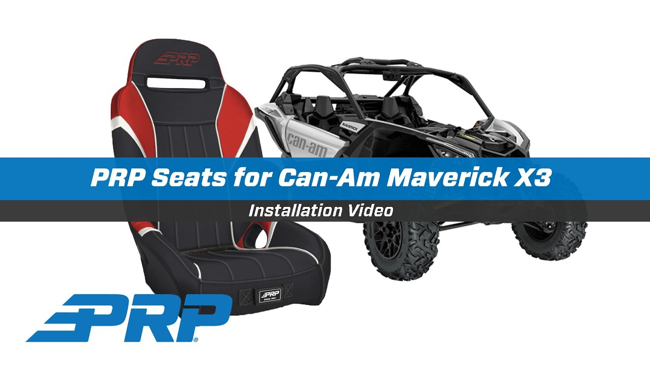Can Am Maverick X3 Seat Install Youtube