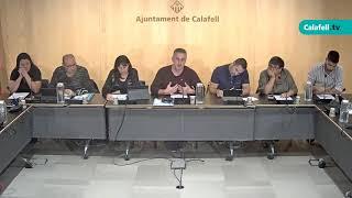 Ajuntament de Calafell: Sessió plenària extraordinària, 29 d'octubre de 2019