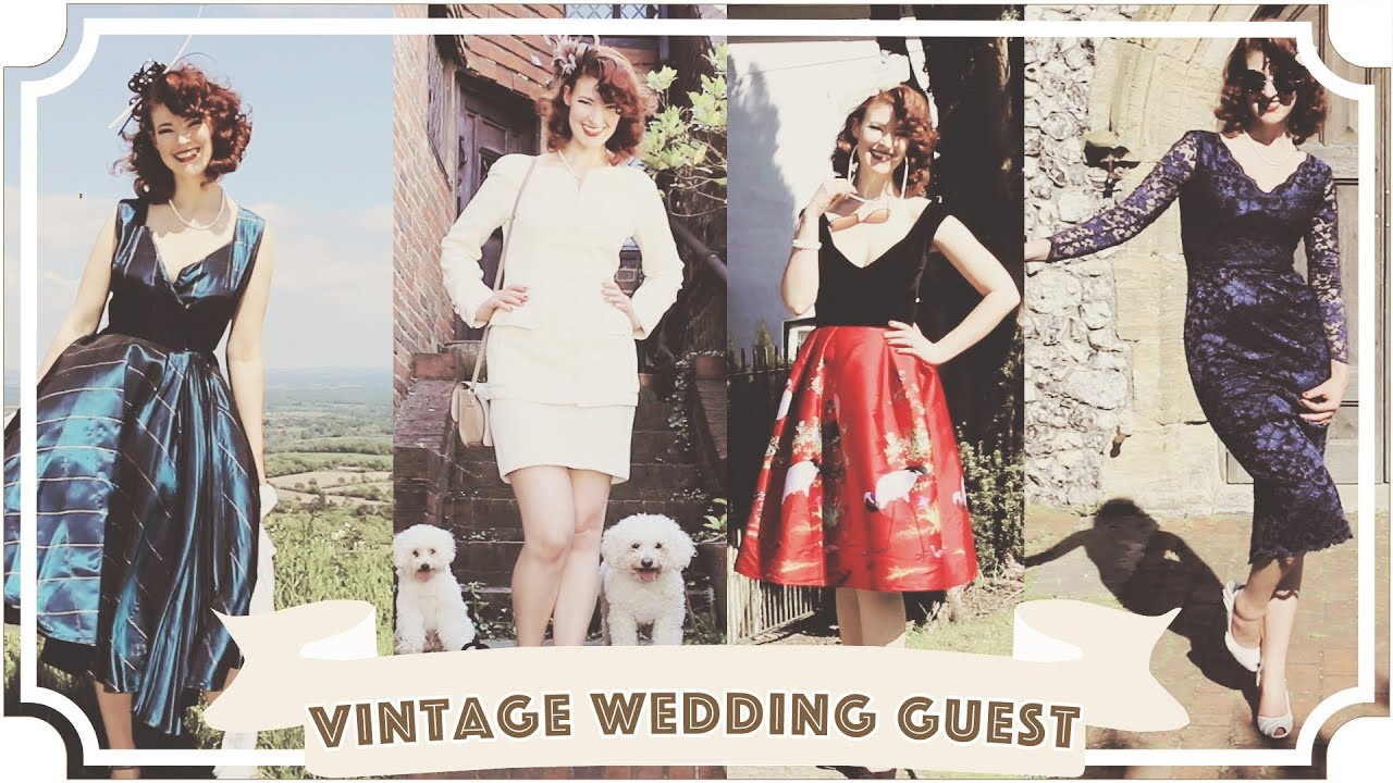 5d838f584f03 Vintage Wedding Guest Lookbook - YouTube