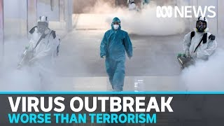 Download WHO warns coronavirus is 'public enemy number 1' and potentially worse than terrorism | ABC News Mp3 and Videos