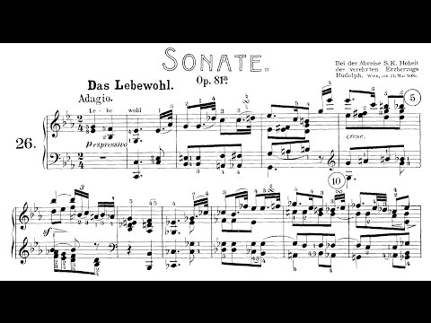 "Beethoven: Sonata No.26 in E-flat Major, ""Les Adieux"" (Oppitz, Lortie)"