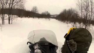 Покатушки по глубокому снегу (Yamaha Viking-2 & Scandic SWT 600)