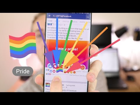 Unlock the Gay Pride Rainbow Reaction on Facebook !