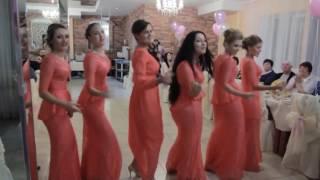 Зажигательный танец подружек невесты на свадьбе 2016, ведущая Олеся Устенко, ведущая Киев
