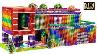 Build Magnetic Balls Mansion House (satisfying) | Magnet World Series