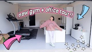 NEW GYM AND OFFICE TOUR!! *moving all the furniture*