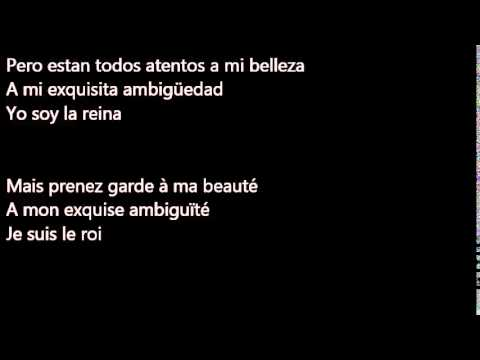 Carla Bruni-Le Plus Beau Du Quartier- Letra Español/Francés.
