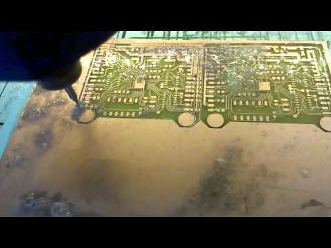 LQFP-48 PCB (MCB) board Milling for STM32 on homemade CNC
