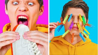 I DARE YOU CHALLENGE! || Funny Challenges And Crazy Pranks by 123 Go! Genius