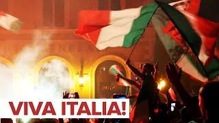 Болельщики сборной Италии по футболу празднуют победу в финале Евро 2020
