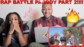 "Couple Reacts : ""THE RAP BATTLE (PARODY) PART 2"" Reaction!!!"
