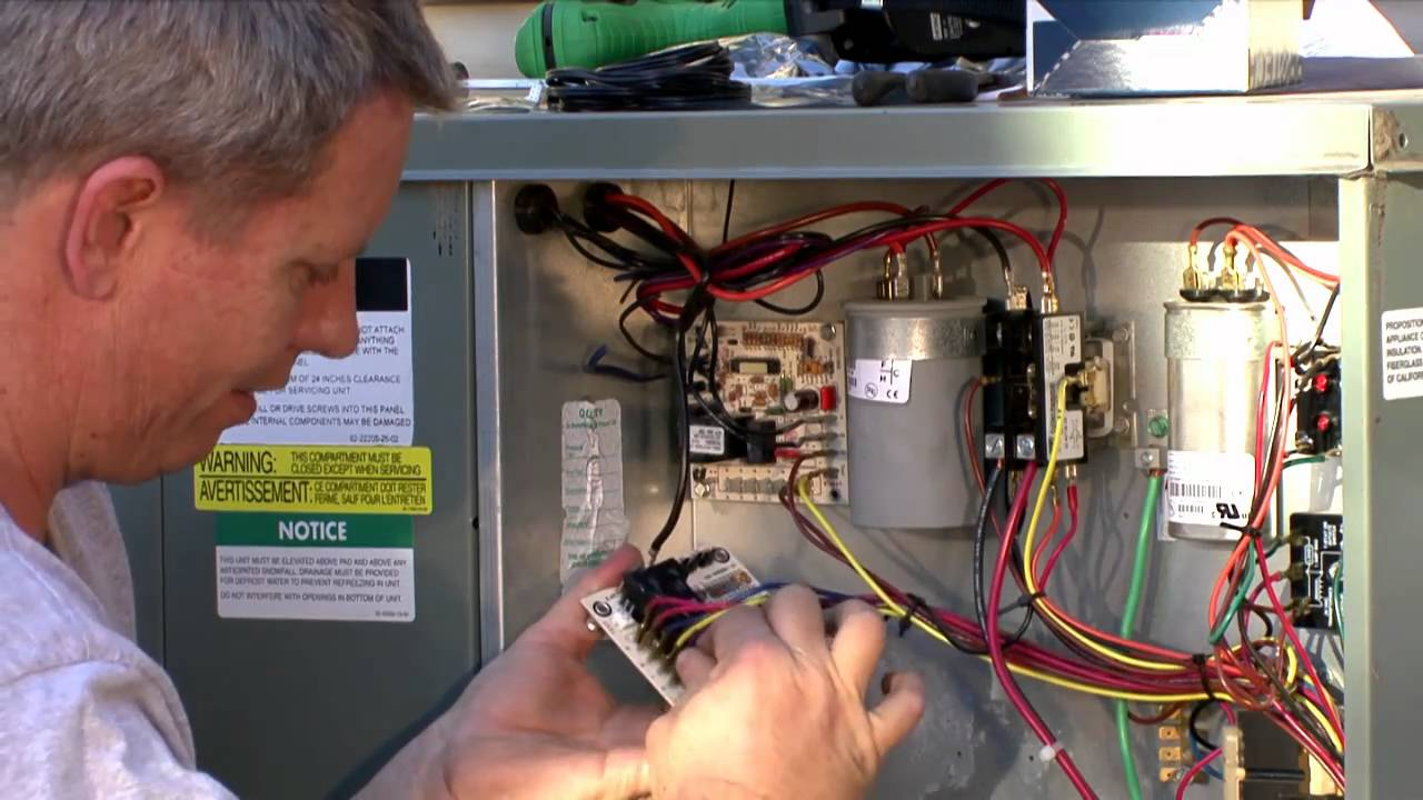 Heat Pump Repair Defrost Control Board Stewarts Cove Diy Youtube Sensor Wiring Diagram