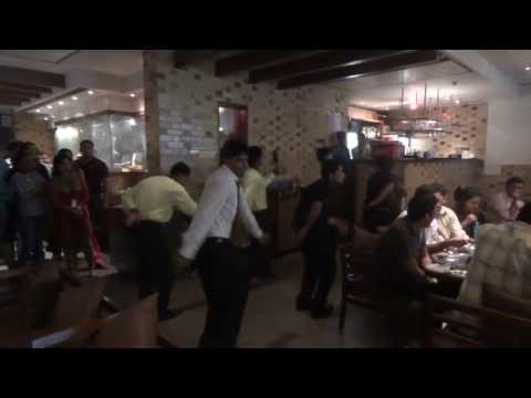 Staff Dance at BBQ Nation - Park Square Mall - Bangalore - 17th Apr 2013
