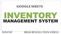 Google Sheets - Inventory Management System Template