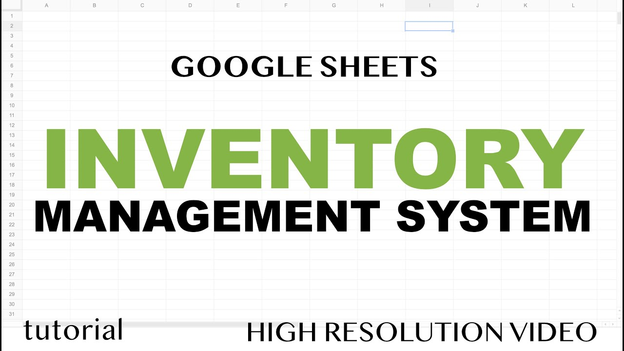 Retail brick and mortar | buyer's guide written by: Google Sheets Inventory Management System Template Youtube