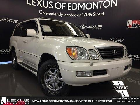 Used White 2001 Lexus LX 470 4WD SUV Walkaround Review   Bonnyville Alberta