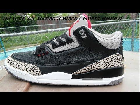 jordan 3 black cement dhgate
