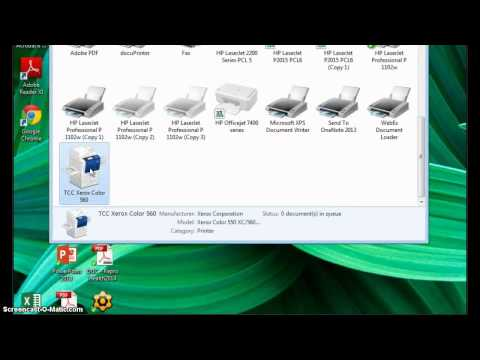 Install Xerox Network Printer by IP address - YouTube