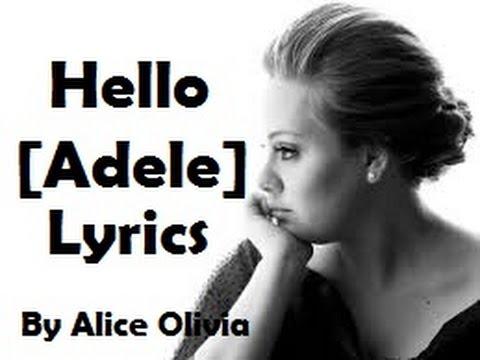 Adele - hello Lyrics by Alice Olivia