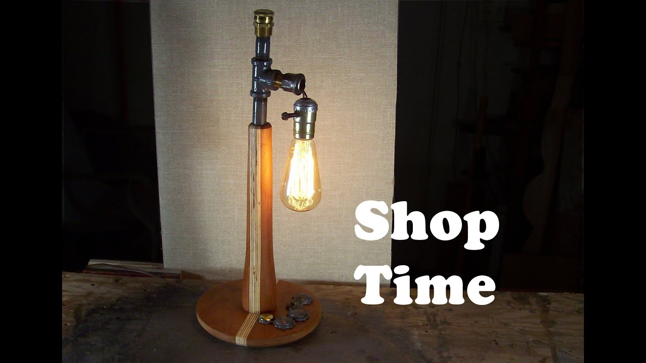 How to make a steampunk desk lamp youtube greentooth Gallery