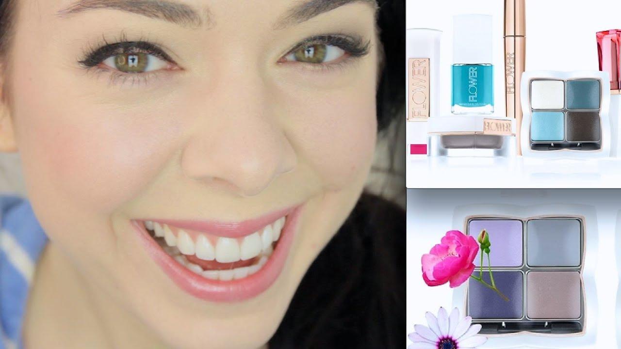 Drew barrymore flower cosmetics mascara gardening flower and flower makeup first reactions demo youtube izmirmasajfo