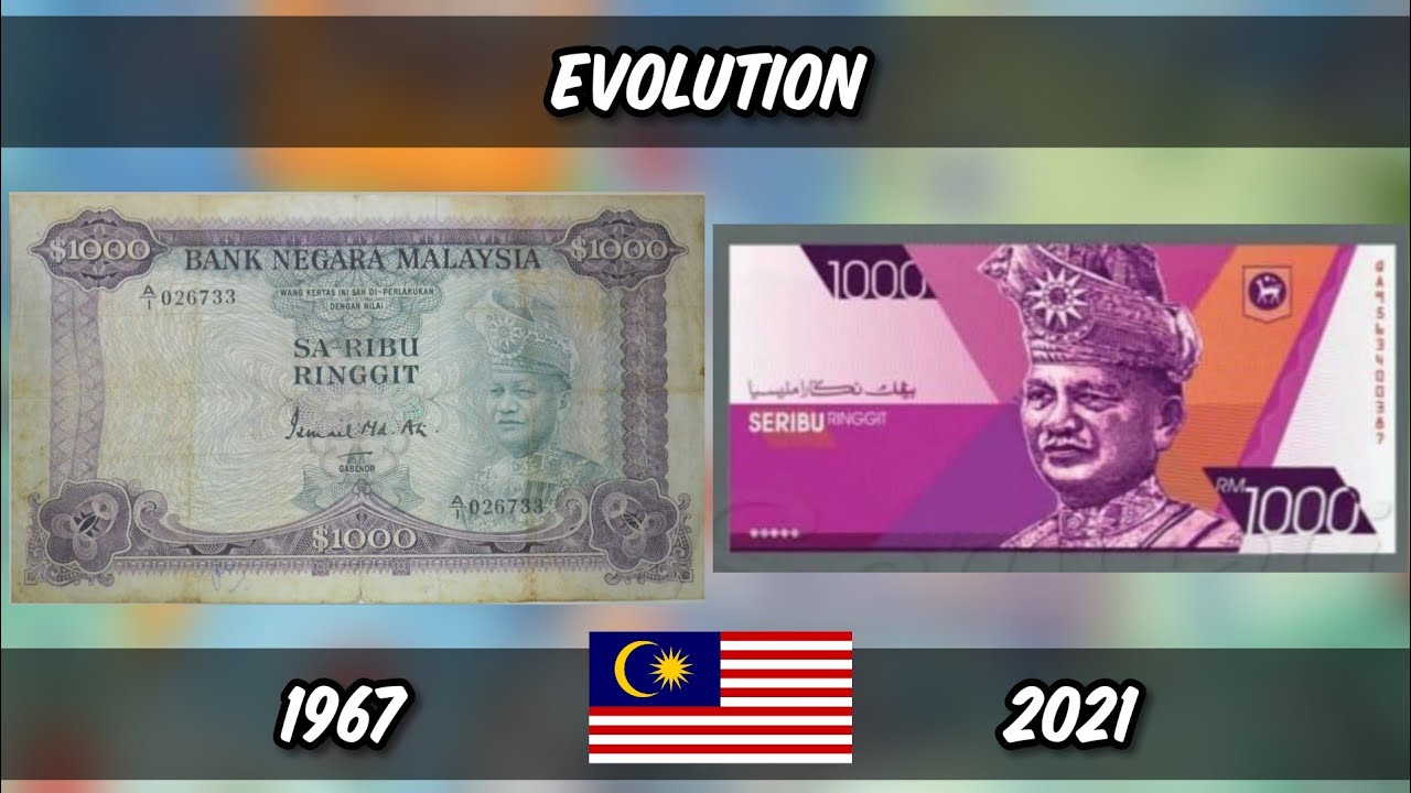 Evolution Of Malaysia Currency From 1967 - 2021 - YouTube