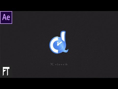 Shine Logo Animation in After Effects - After Effects Tutorial - Flip Logo Animation-  Transition