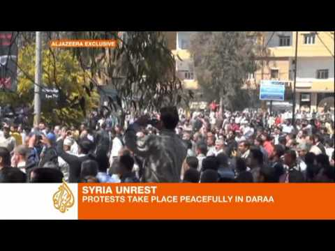 Syria's Daraa peaceful after meeting with president