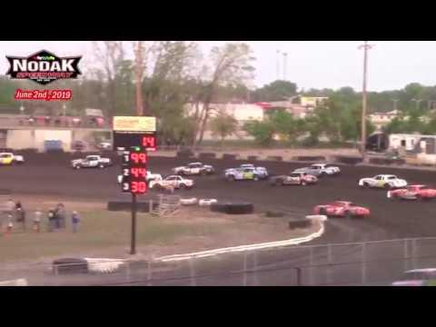 Nodak Speedway IMCA Hobby Stock A-Main (6/2/19)