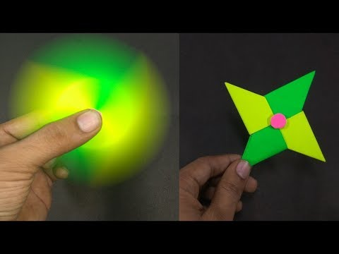 How To Make A Paper Fidget Spinner WITHOUT BEARINGS - Paper Artist