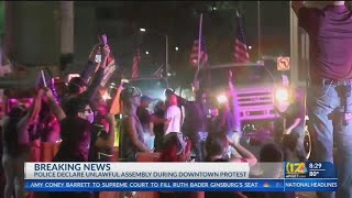 Breonna Taylor Protests Declared Unlawful Assembly In Downtown Bakersfield