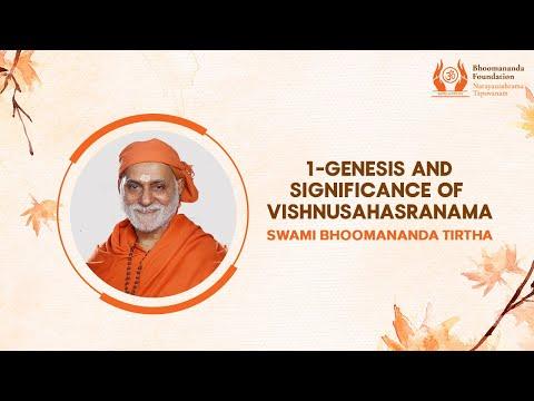 Genesis and Significance of Vishnusahasranaama - Part 1