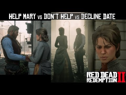 Help Mary VS Don't Help Mary VS Decline Date VS Accept Date (Fatherhood & Other Dreams II) RDR2