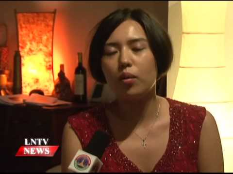 Lao NEWS on LNTV: Caroline Fischer was in Laos staging the classical piano concert.2/10/2014