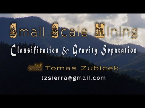 the classification of the gravity separation