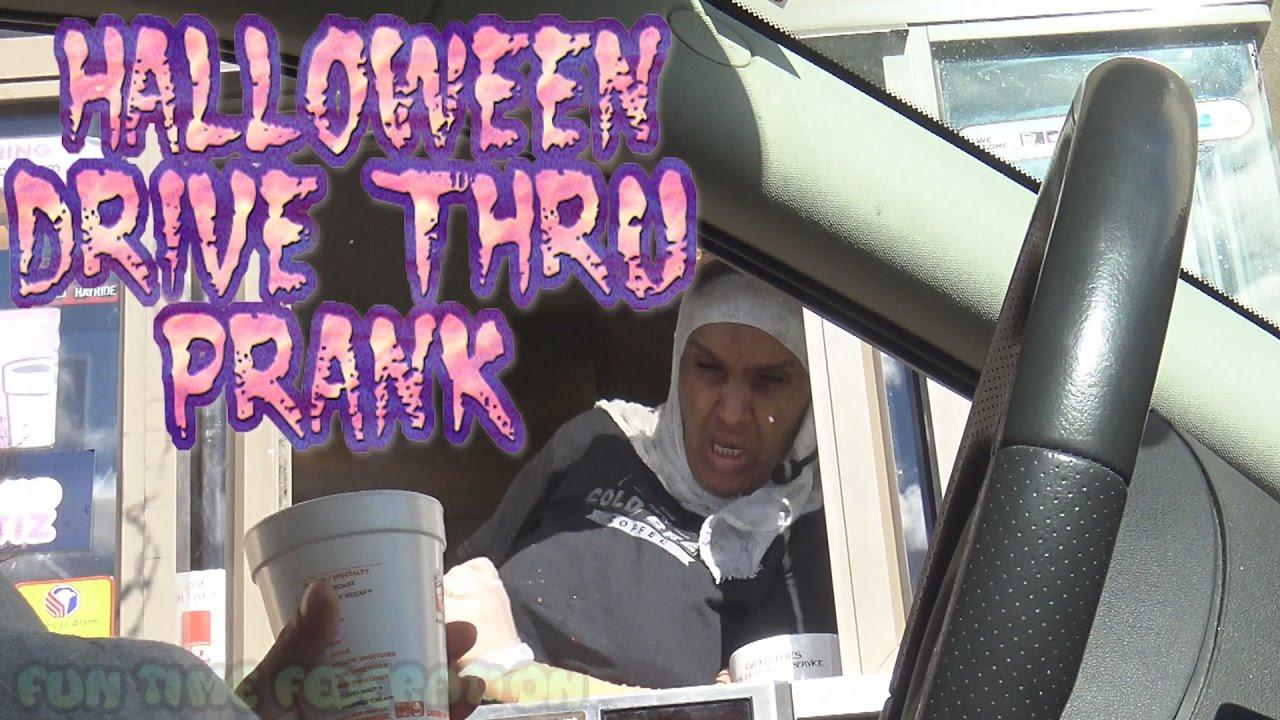 Halloween Drive Thru Scare Prank