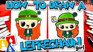 How To Draw A Cute Girl Leprechaun
