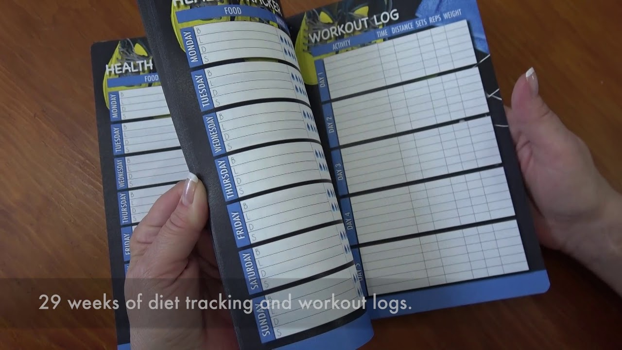 daily diet and workout tracking journal 6 months of logs wire