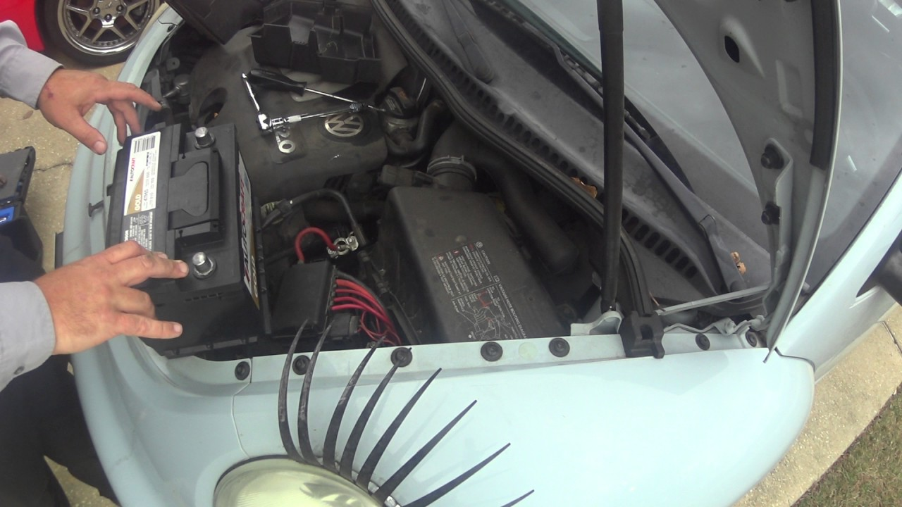 How To Change The Battery In A Vw Beetle Youtube 98 Fuse Box