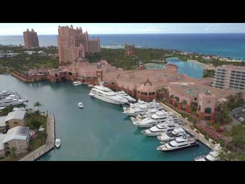 DJI Mavic Pro Flying Over Nassau Bahamas Atlantis Resort