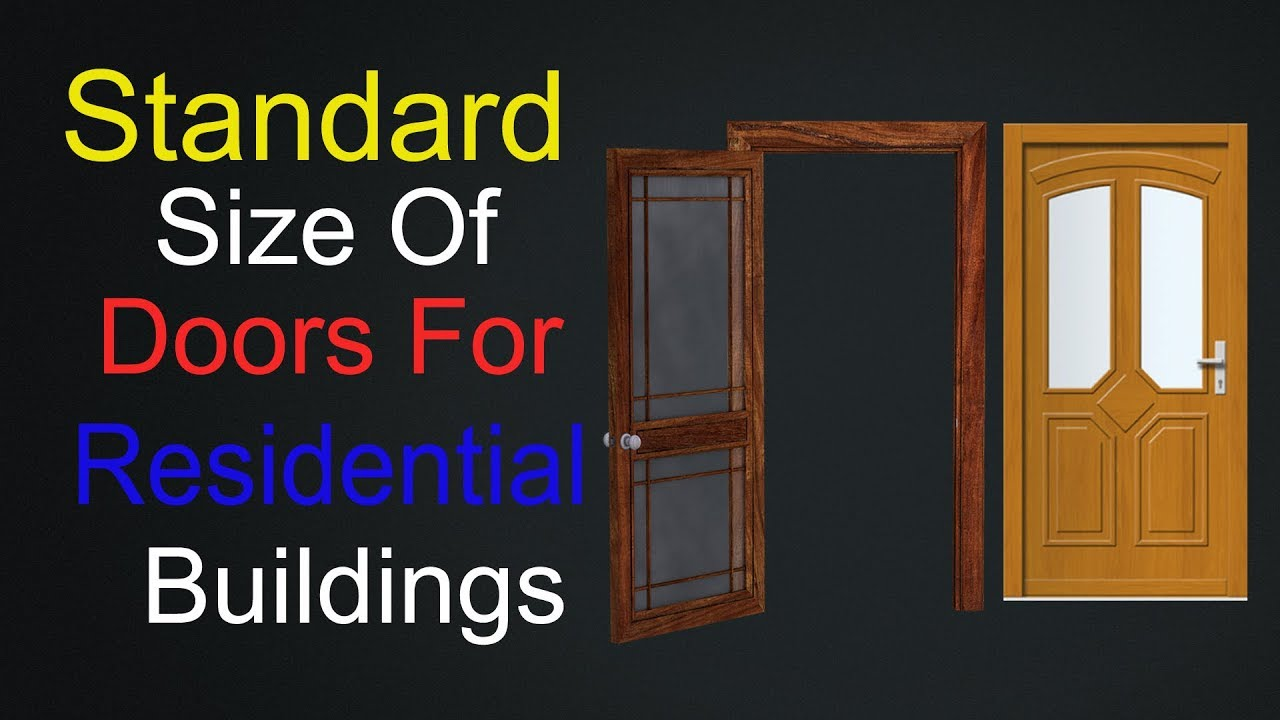 Attrayant What Is The Standard Size Of Doors In Residential Buildings.