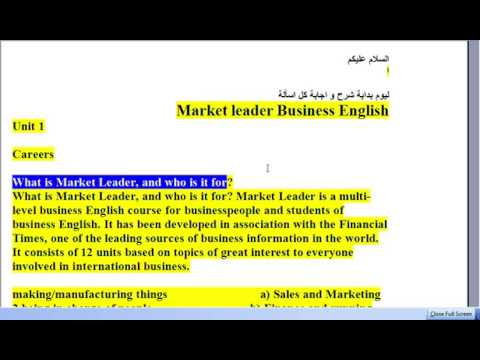 Market Leader Answers