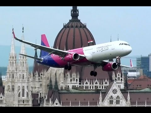 WizzAir Airbus A-321 low pass at Nagy Futam 2016, Budapest