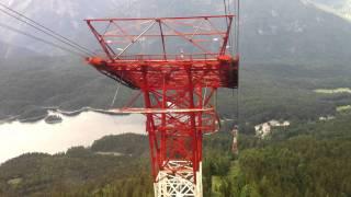 Zugspitze, Eibsee-Seilbahn, Talfahrt in Echtzeit