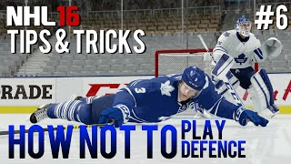 NHL 16: Tips & Tricks #6 - How NOT to Play Defense(HUT players have developed a certain reputation over the years.. In this video, I'll show you guys some of the worst defensive strategies I've come across, and ..., 2015-11-13T00:00:00.000Z)