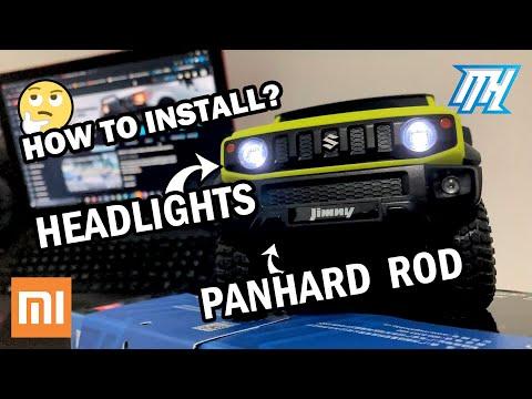 XIAOMI Suzuki Jimny | How to install LED headlights + panhard rod?