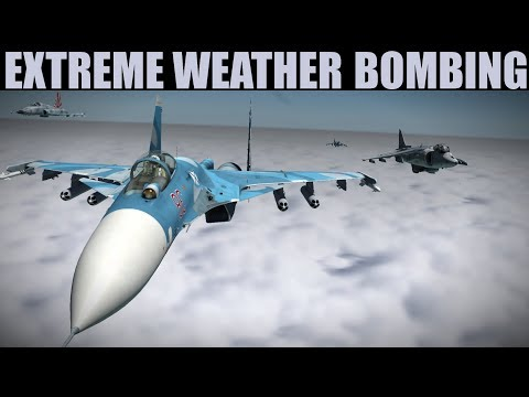EXTREME Weather DAS Bombing Mission | Harrier & Mirage | DCS WORLD